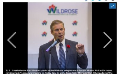 Wildrose Independence Party of Alberta Airdrie-Cochrane constituency holds inaugural meeting